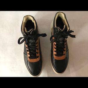 Diesel  spaark high top leather sneaker.